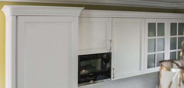 Detalje av kjøkkenmøblerprosjekter Nida F
