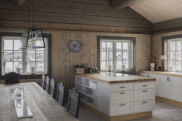 Hytte inspirasjon. Hyttekjøkken T8. LHM Interior