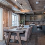Oak dining table for cabin
