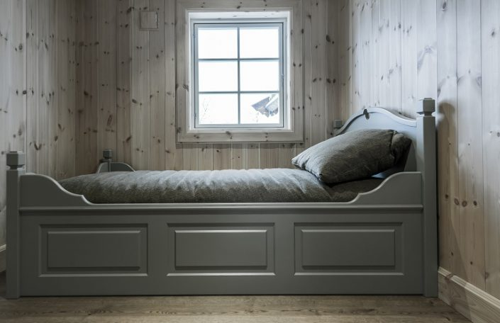 Single bed. Furniture for living houses and cabins