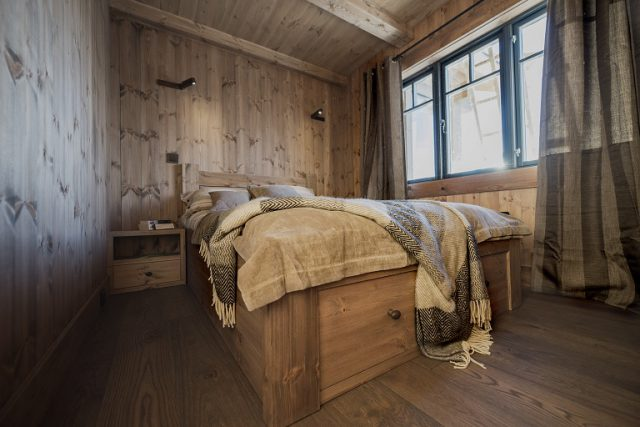 Double bed. Cabin Furniture