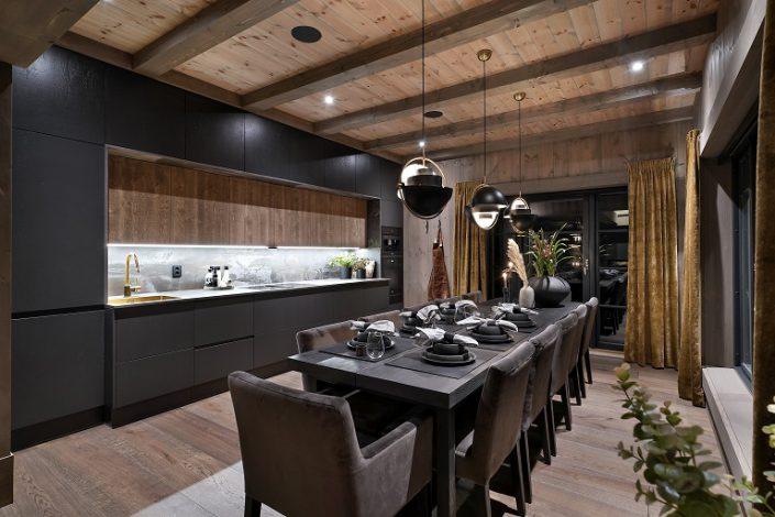 Luksuriøst tre kjøkken