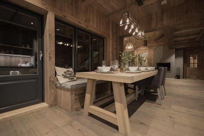 Dining table made of oak